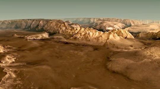 vuelo sobre Marte
