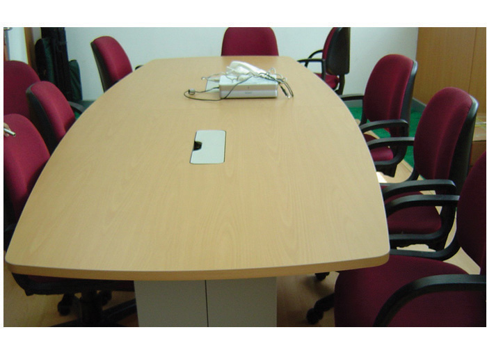 Differences Between Modular Furniture Carpentry November - Conference table pop up box