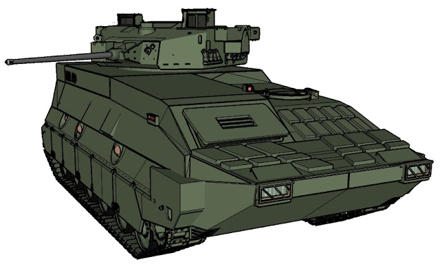 Tank medium Pindad ilustrasi