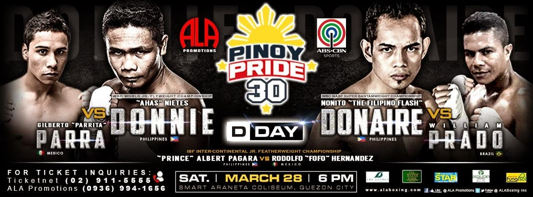 Pinoy Pride 30 Results - Donaire vs. Prado / Nietes vs. Parra (VIDEO)