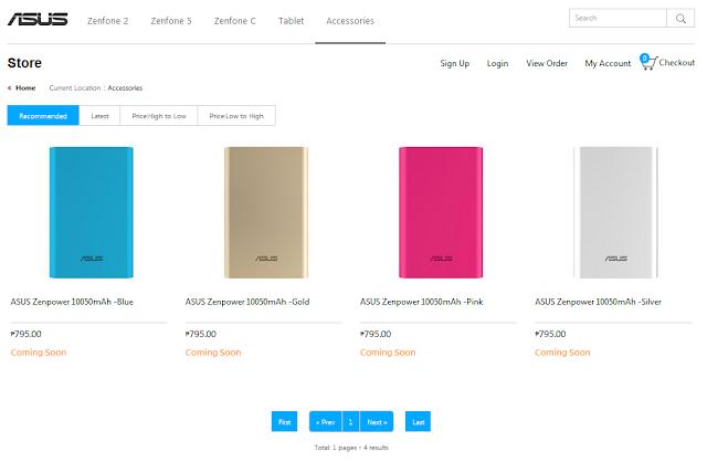 ASUS Philippines Online Store Opens, Sells Zenfones, Zenpowers