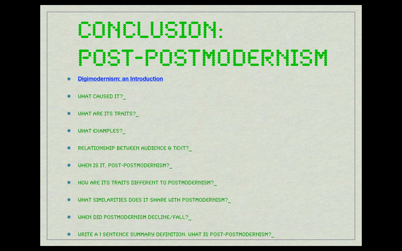 essays on postmodernism and modernism