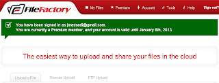 FILEFACTORY premium accounts 16 september 2012 WITH PROOF