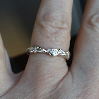 Solid Gold Eternity Band with Leaves, Twig, Vines wedding Band