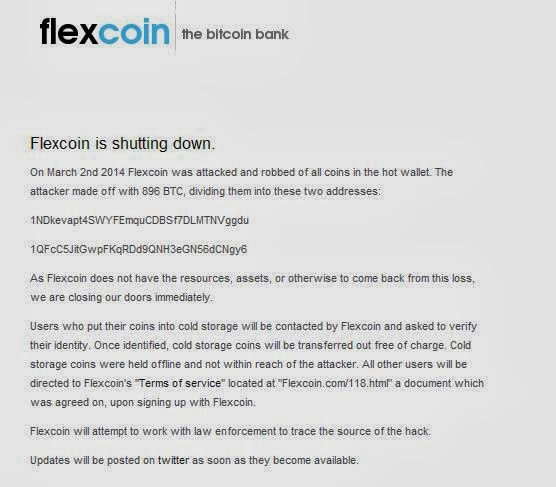 Flexicoin Bitcoin Bank and Poloniex Bitcoin Exchange hacked