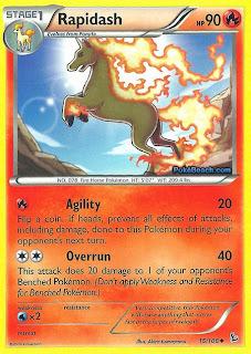 Rapidash Flashfire Pokemon Card