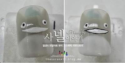 Korean totoro nail
