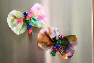 Tie Dye Butterfly Magnet