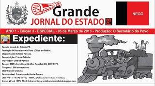 UM DOS PRIMEIROS EXPEDIENTES DO GRANDE JORNAL DO ESTADO PB