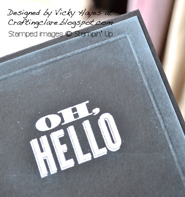 Sentiment from Oh Hello by Stampin' Up