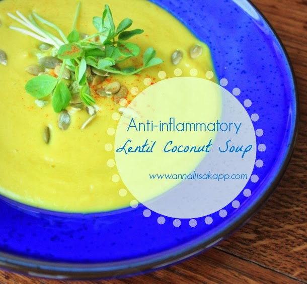 Anti-inflammatory Detox Friendly Lentil Coconut Soup Recipe