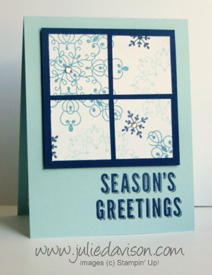 Stampin' Up! Letterpress Winter Card Idea