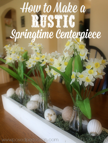 Simple steps to making a Rustic Springtime Centerpiece.