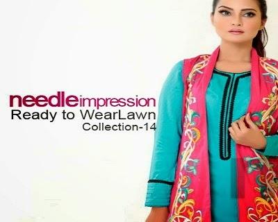 Needle Impressions Ready to Wear Lawn Pakistani Dresses