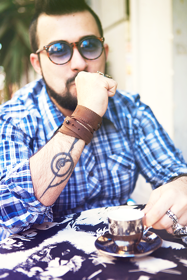 Kjøre Project, Fashion blogger, Guy Overboard, Large Buttoned Bracelet, Triple Cut Bracelet