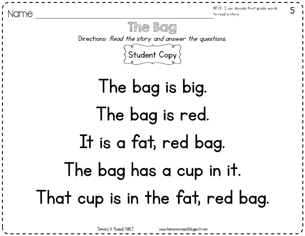 Introducing: Kindergarten Fluency - Mrs. Russell's Room