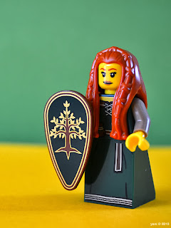 a lego forest maiden
