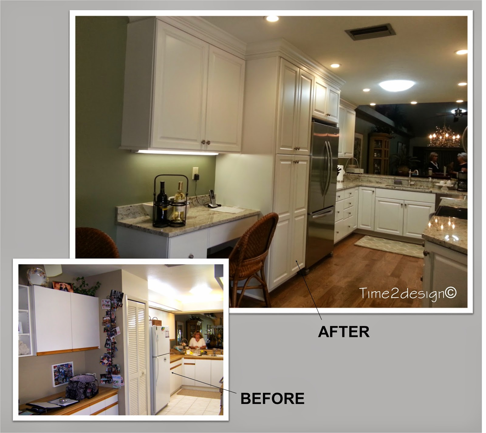 Crown molding on kitchen cabinets before and after -  Increased The Height Of The Upper Cabinet For Additional Storage Space And By Taking The Crown Molding Right To The Ceiling It Gives The Whole Kitchen A