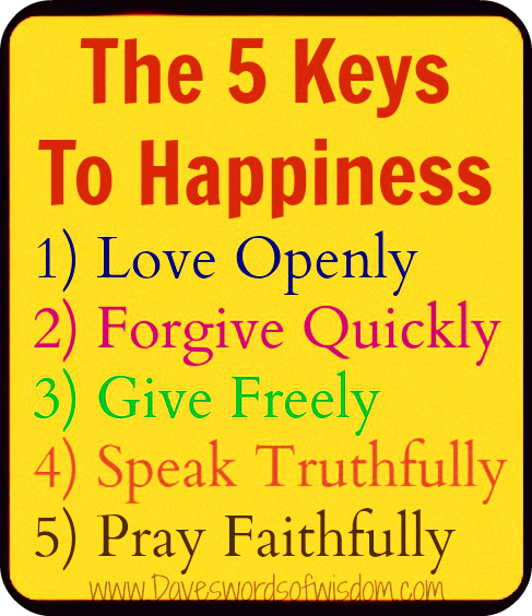 keys to happiness Keys to happiness: a free inspirational picture with an exclusive quote visit healthruwords for more motivational images to help you stay inspired and positive.