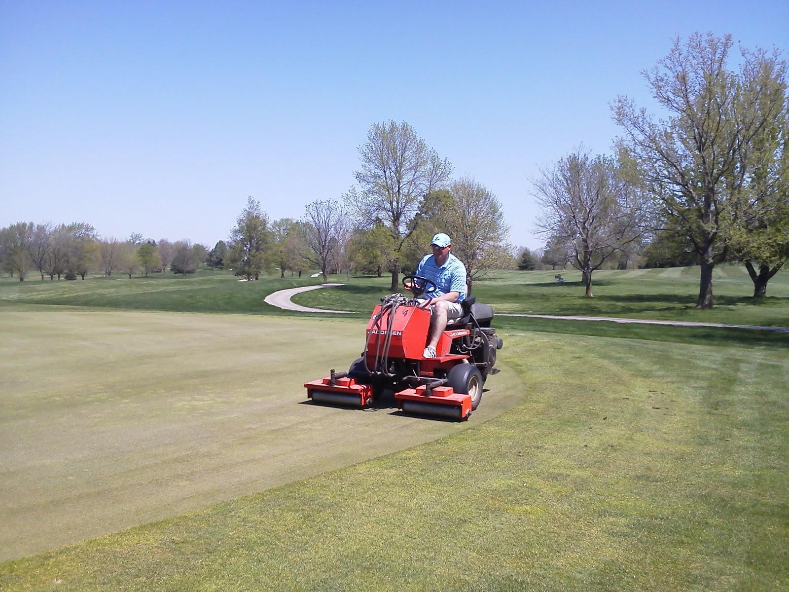 Jester Park Golf Course Maintenance Spring Aerification