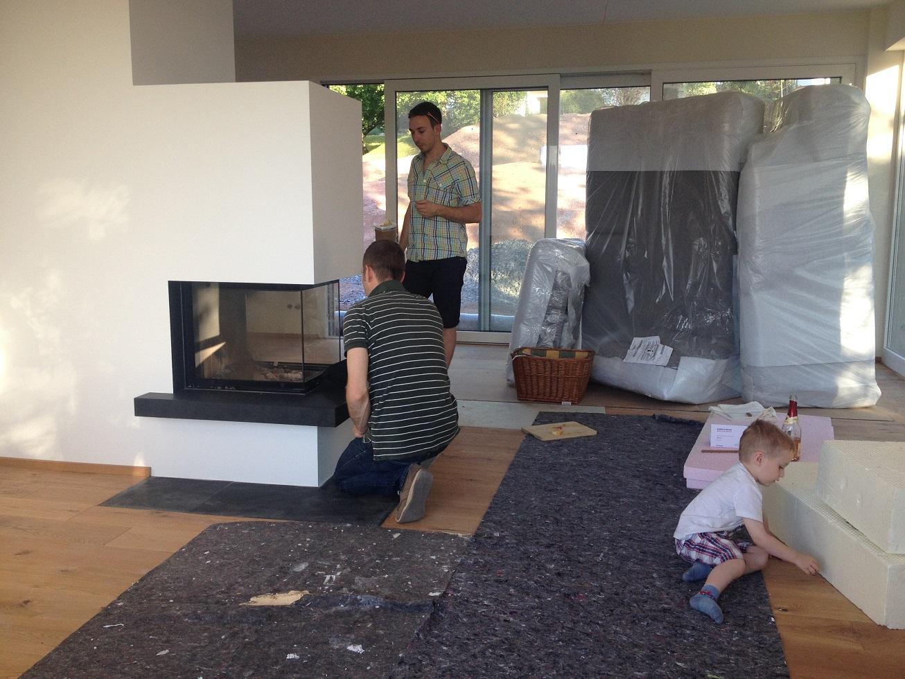 Wir bauen ein Haus - Unser Bautagebuch : Ein Feuerchen bei 30Grad