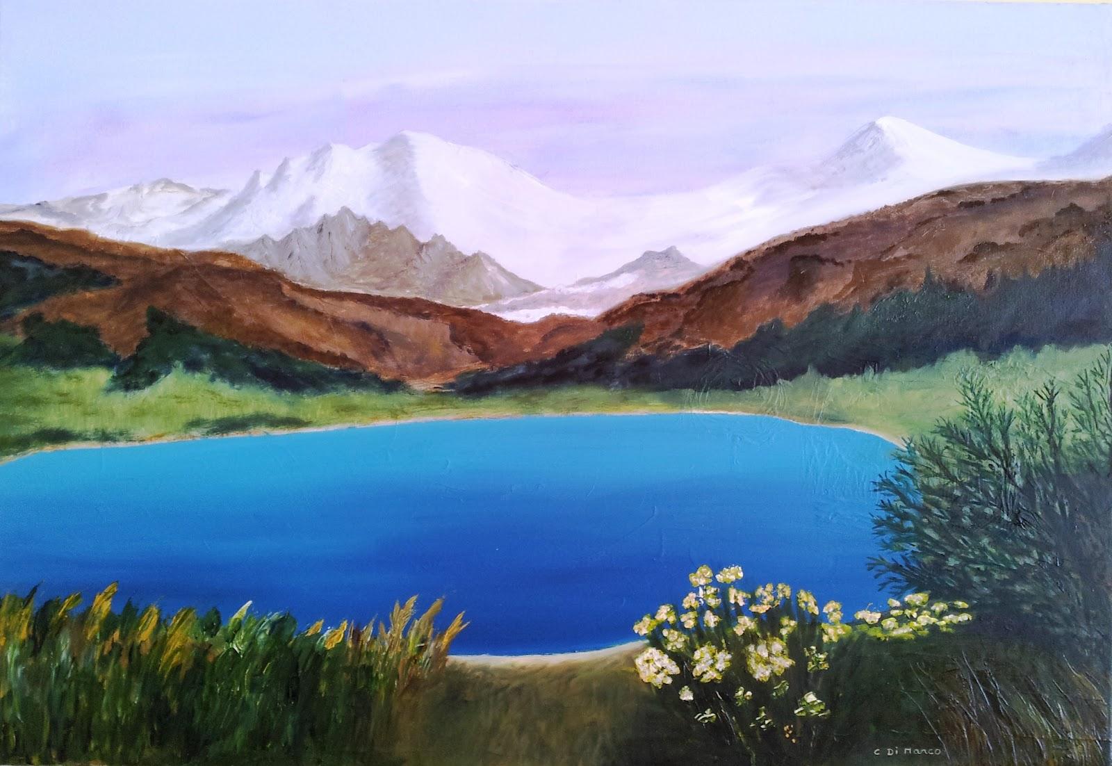 Peindre et dessiner le samedi au centre social et culturel de valmante christiane di marco - Dessin de montagne ...