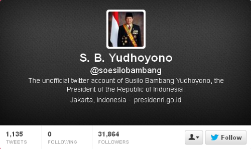 Twitter S. B. Yudhoyono soesilobambang