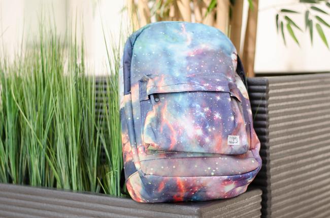 Galaxy Print Backpack