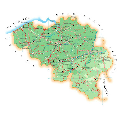 Carte de la Belgique Departement