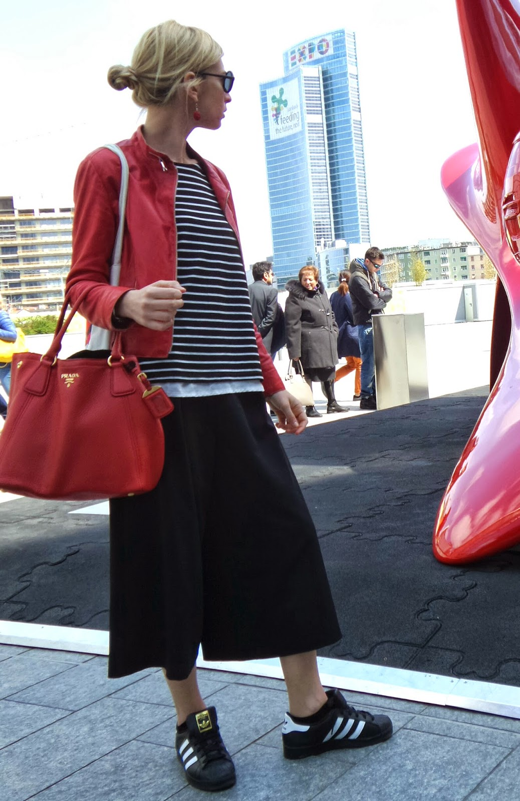 Milano Design Week - Red leather jacket
