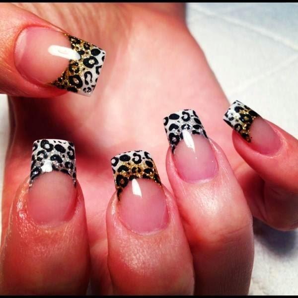 Leopard print nails $50