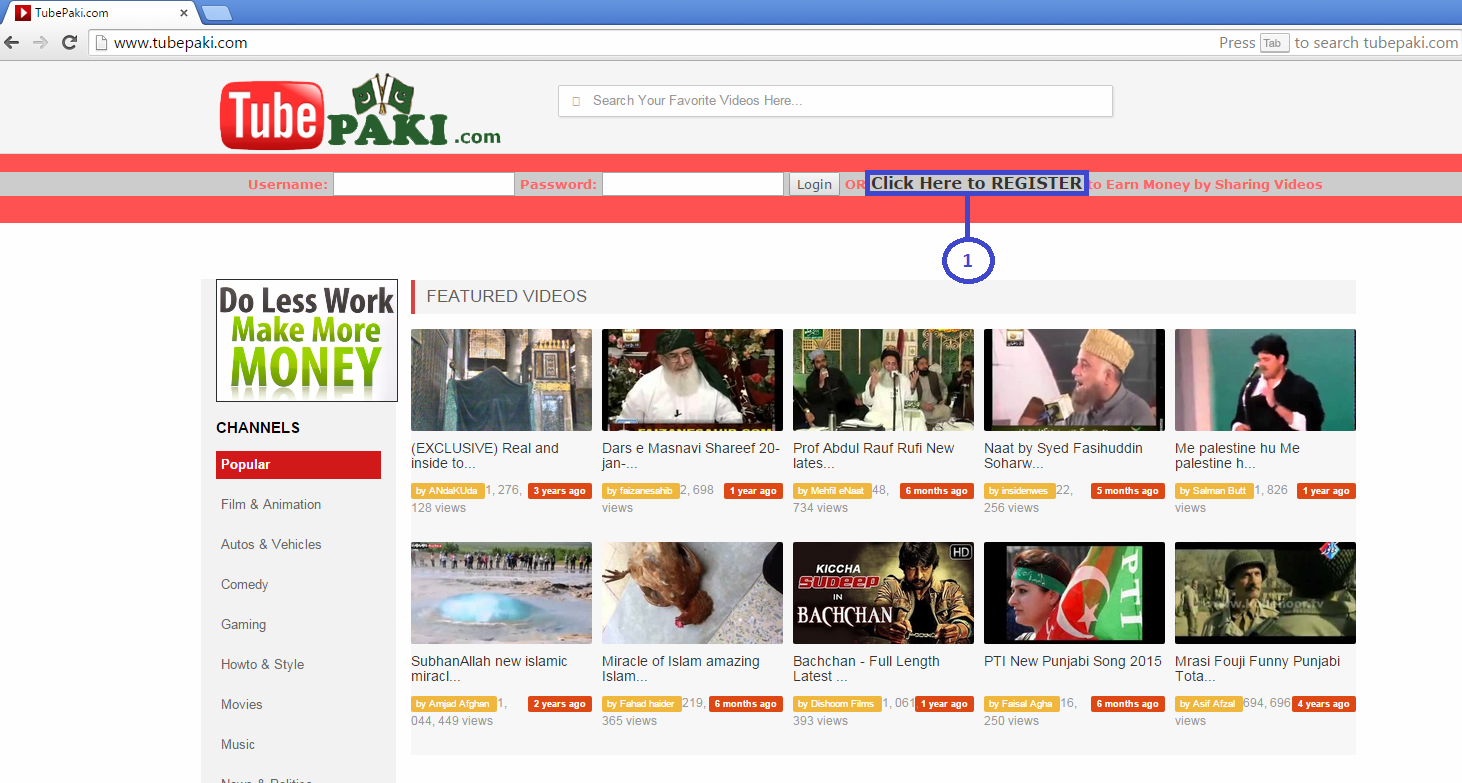 How to create Account on TubePaki to Earn Money?
