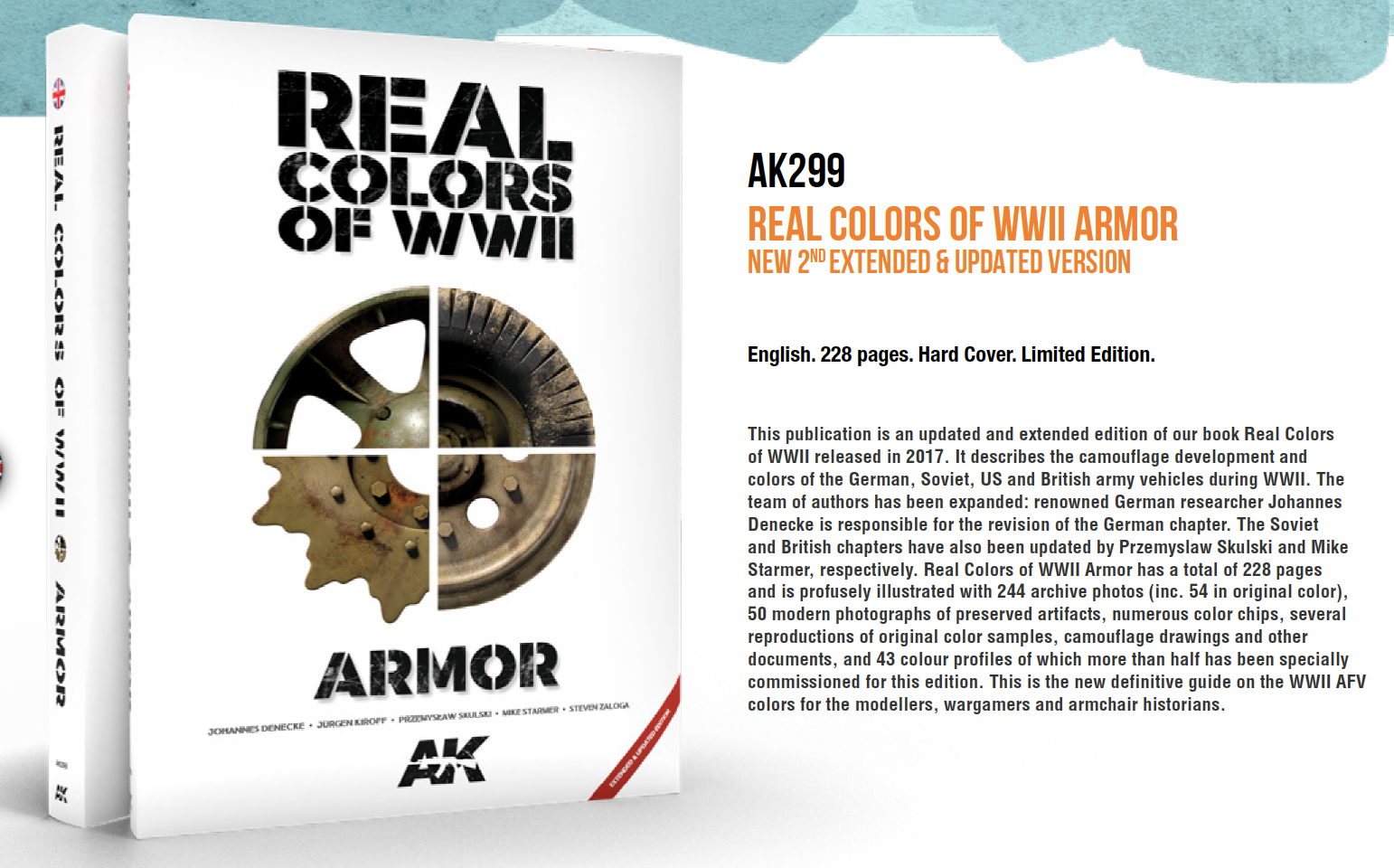 AK INTERACTIVE Real Colors of WWII Armor New 2nd Extended /& Updated Vers  AKI299