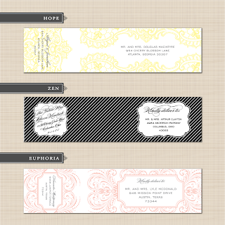 DIY printable custom wedding wrap around address label design template