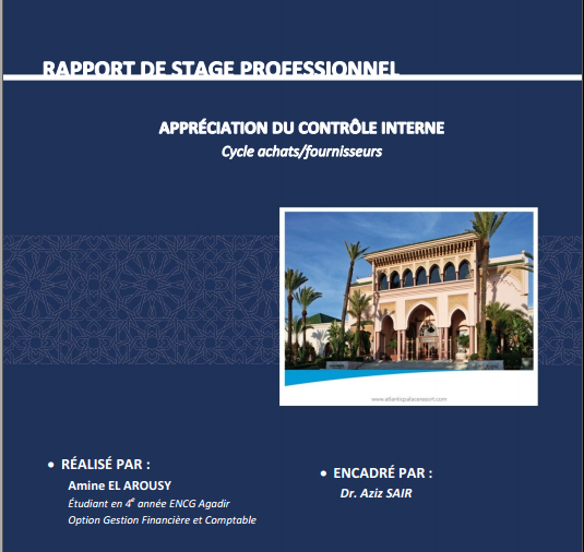 rapport de stage application du controle le interne cycle