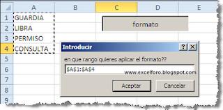VBA: Macro para un formato condicional  en Excel.