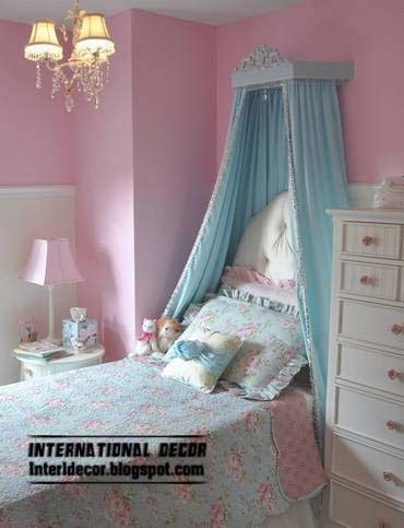 girls canopies and draperies in headboard, canopy beds for girls