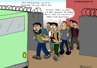 ilan grapel jew 25 egyptian prisoners criminals exchange walking to bus leaving prison palestinian equivalent crunching the numbers