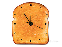 toast with clock face