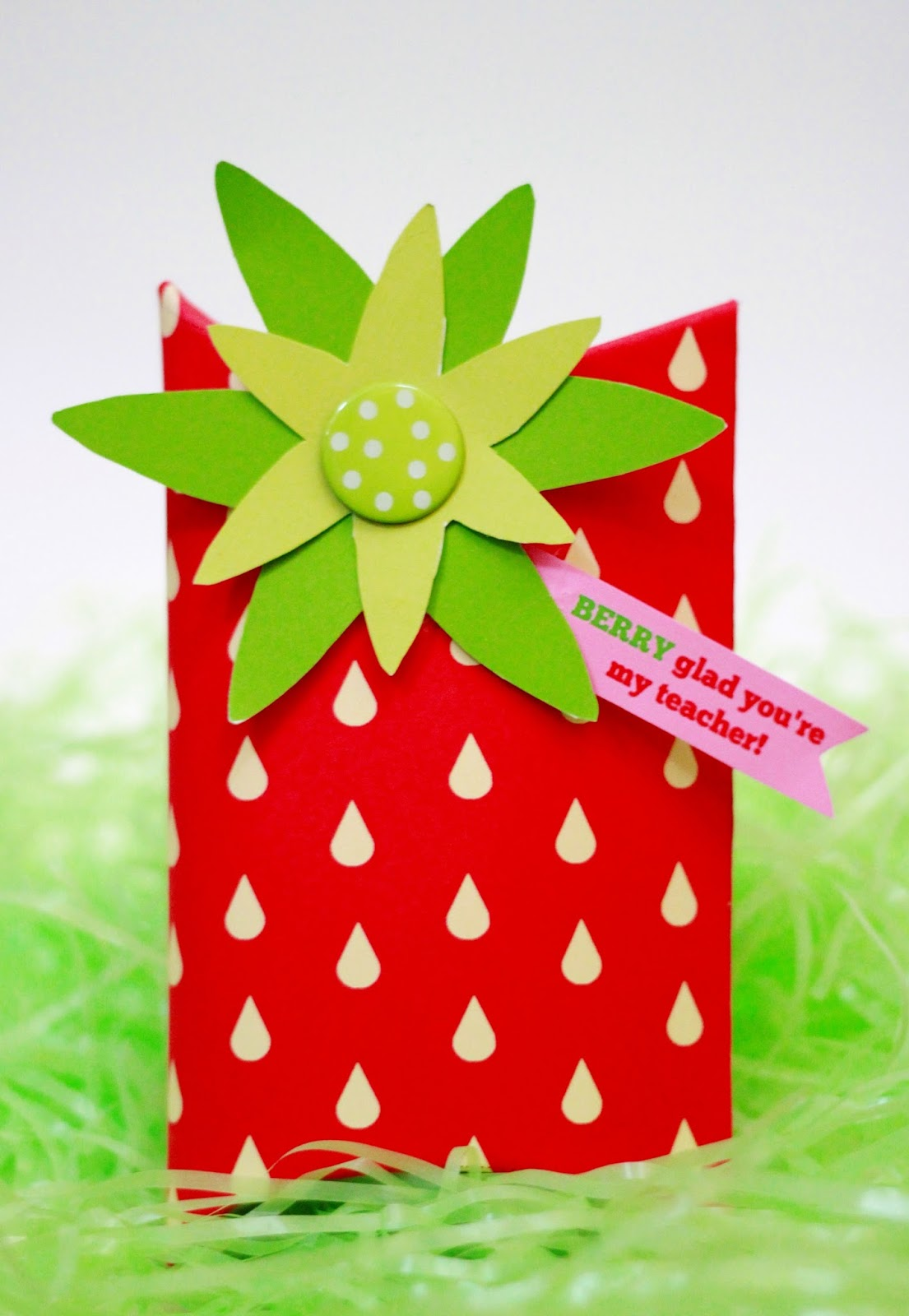 Printable Strawberry Box for Teacher Gift