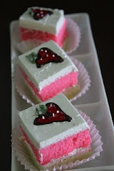 Strawberry slice cakes. rm40 36 pieces