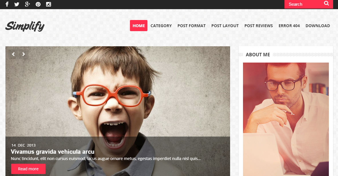 Download Simplify Clean & Responsive Free Blogger Template