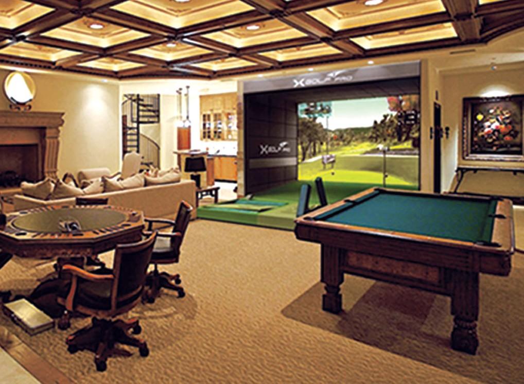 Golf spelled backwards october 2012 for Indoor game room ideas