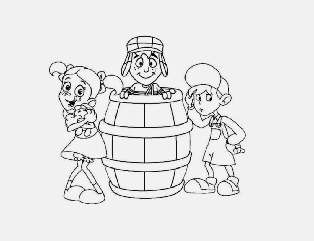 Chaves Animado For Kid Coloring Drawing Free wallpaper