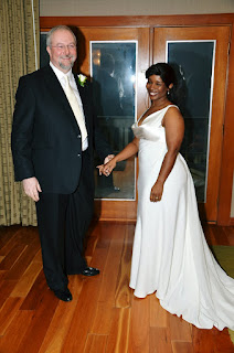 The happy newly wed:  Greg and Michelle at the Salish Lodge and Spa