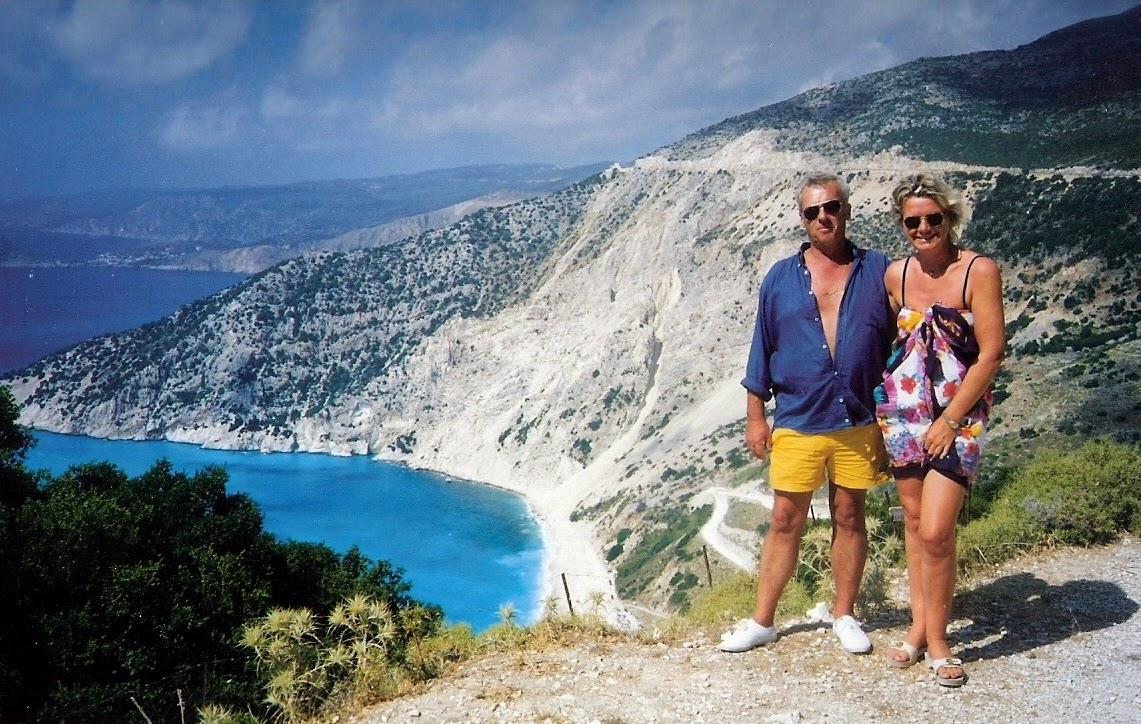 Dimitris and me.Kefalonia,above Myrtos beach.