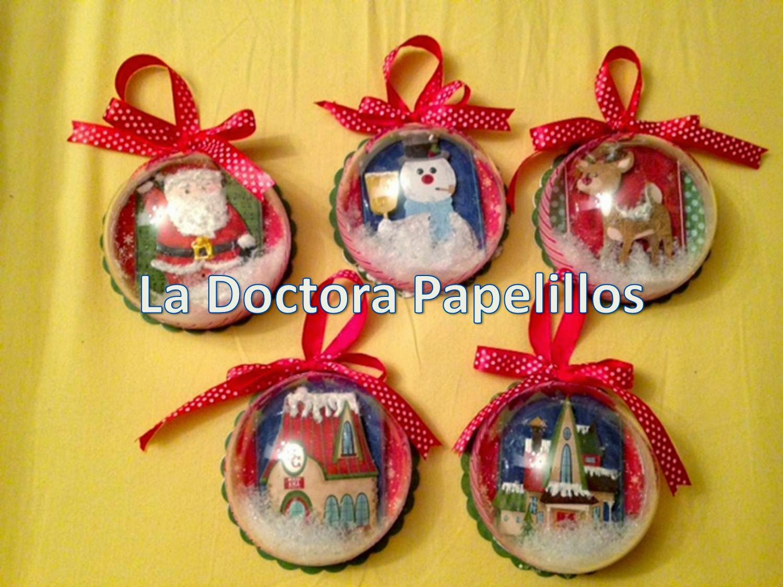 La Doctora Papelillos Bolas De Navidad - Bolas-de-navidad-transparentes