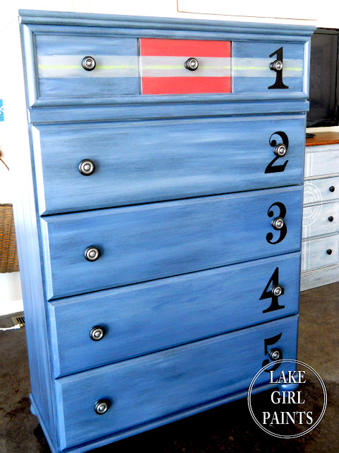 diy boys blue dresser, diy painted dresser