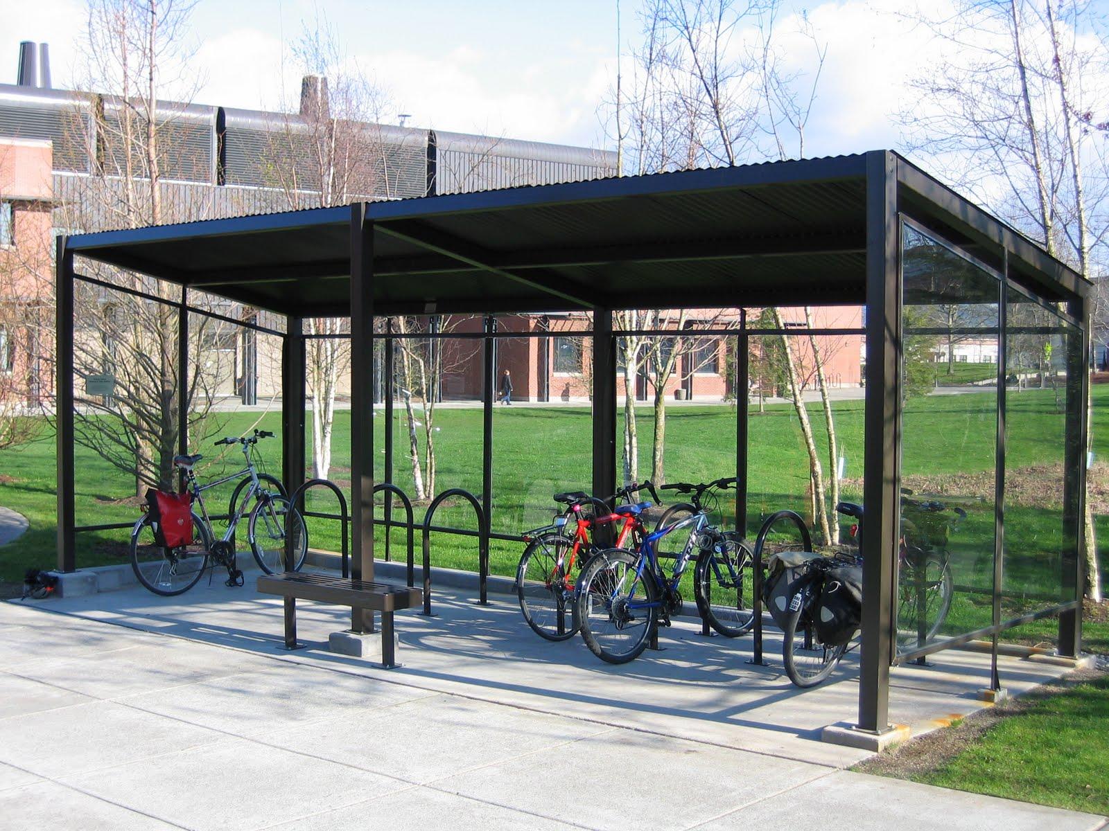 Bike Parking Shelters : Bellingham bike denise guren memorial shelter