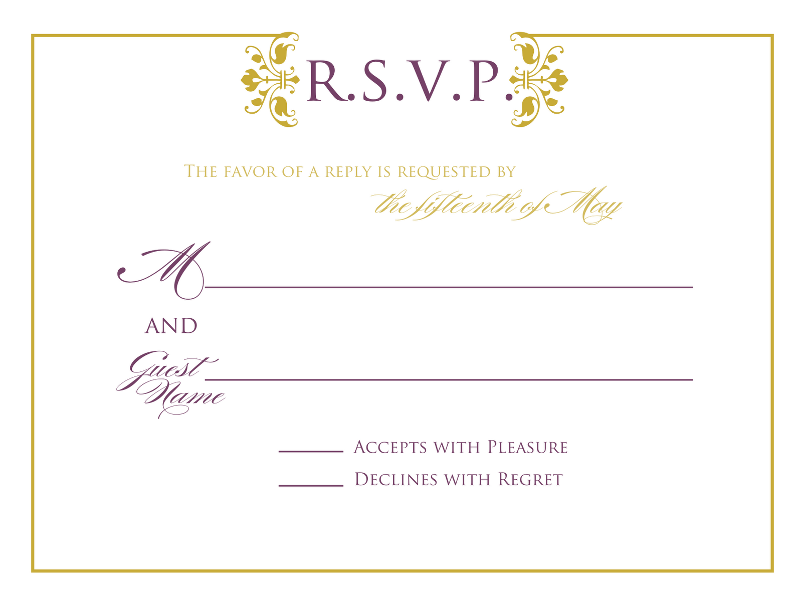 Signatures by sarah wedding invitation suite for andrea for Definition of rsvp in invitations